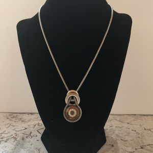 Jewelry - Vintage silver plated retro necklace